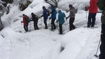 pralong - vernec met sneeuwschoenen