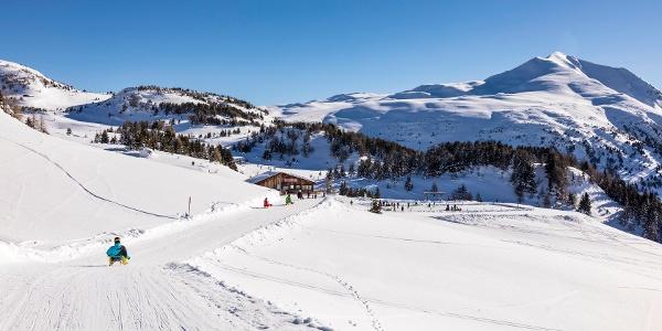 Berghütte mit Eisfeld Raguta Alp Raguta