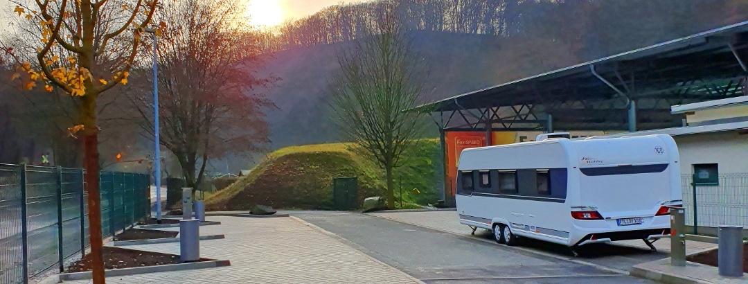 Caravanstellplatz - Blick in Richtung Rabenauer Grund