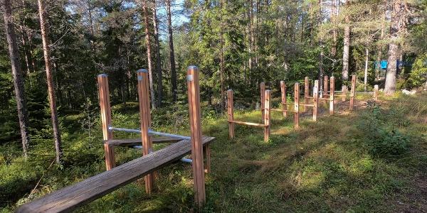 Outdoors gym (Bergö trail)
