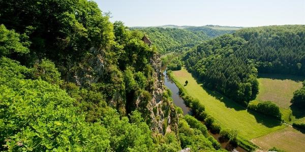 Blick auf die Schutzhütte Gabelstein