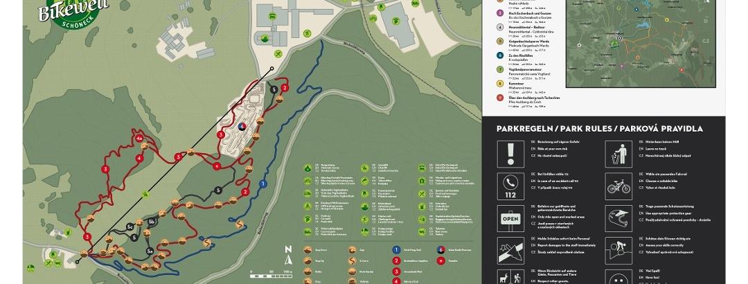 Übersicht Trails im Bikepark Schöneck