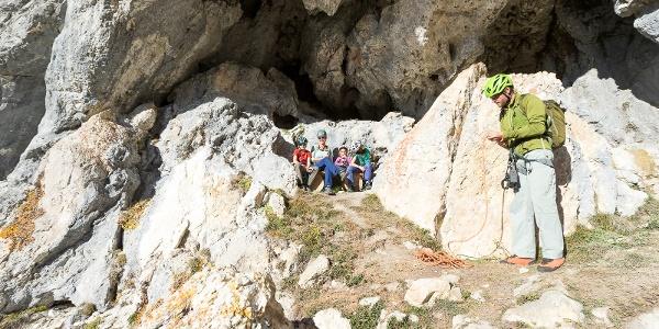 Familien-Klettersteig Partnunblick - Einstieg