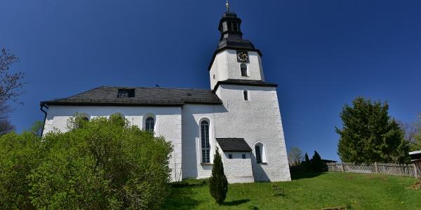 Kirche in Ranspach bei Pausa im sächsischen Vogtland