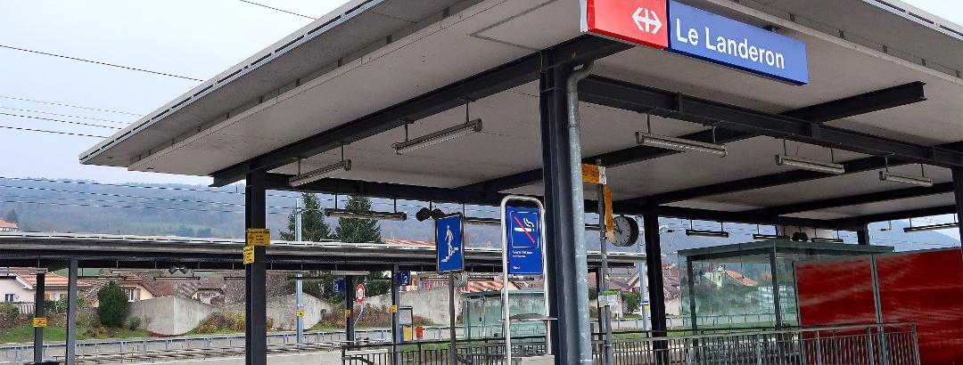 Bahnhof Le Landeron.