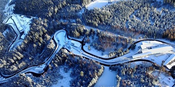 SachsenEnergie-Eiskanal Altenberg, Rennschlitten- und Bobbahn