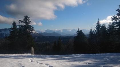 Vue au sommet de la randonnée
