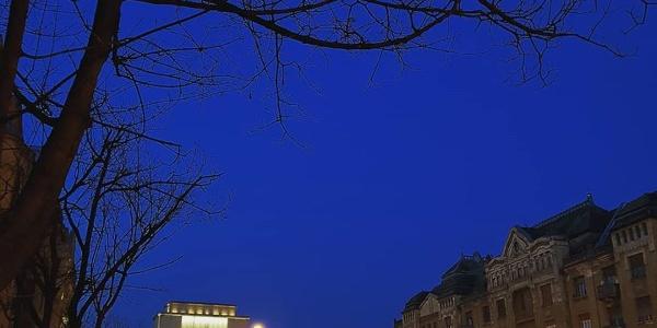 Piața Victoriei - Opera Națională Română din Timișoara - nocturnă