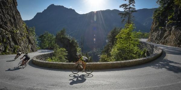 Rennradfahren in Brandenberg - Abfahrt
