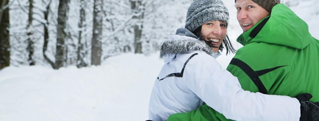 Winterwandern in der Natur