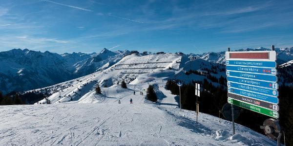 im Skigebiet Schmittenhöhe