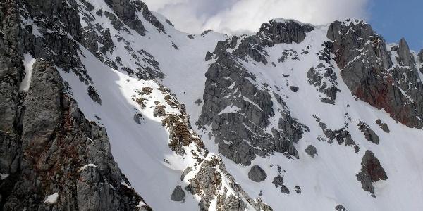 Breite Ries: Blick von der Einfahrt in die Narrndattlrinne zur Einfahrt in die Breite Ries
