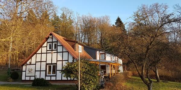 Aussenansicht des Naturfreundehaus Schlehberghütte in Alfeld/Leine