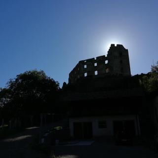 Le rovine del Castello di Rafenstein.