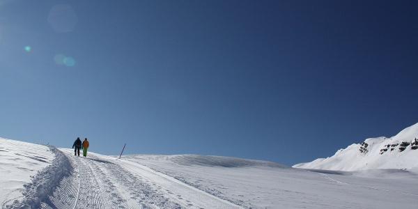 Im Anstieg vom Berghaus Arflina zur Hochebene Clun