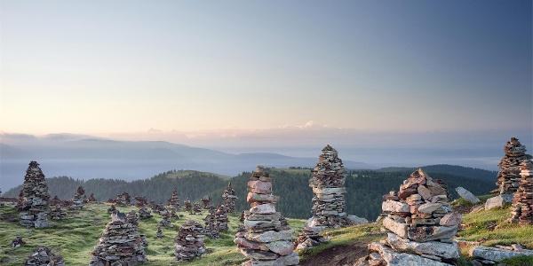 Die Steinmännchen hoch über Sarntal