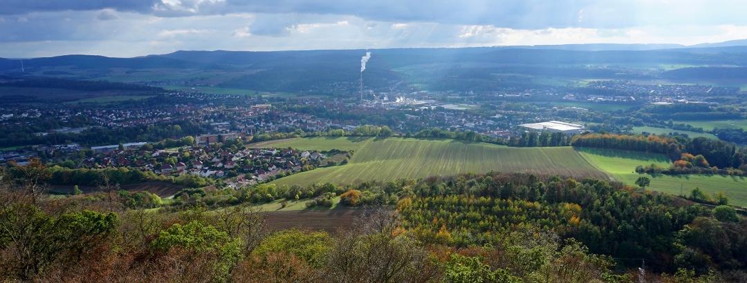 Blick auf Alfeld vom Himmelbergturm