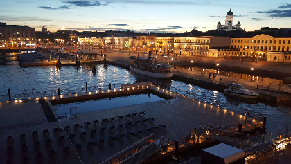 August night in Helsinki