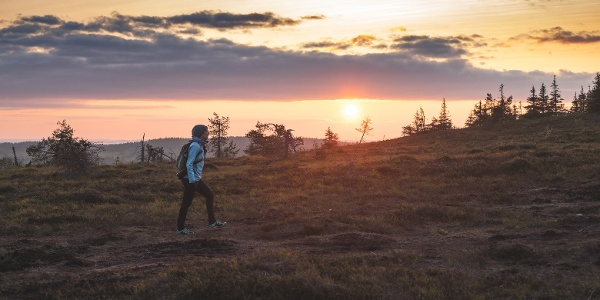During summertime you can experience magical light of the midnight sun