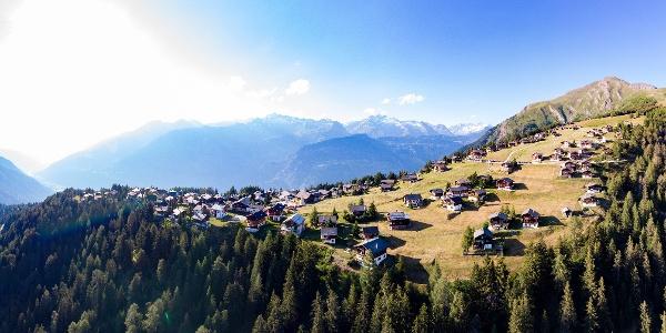 Rosswald, point de départ de la randonnée