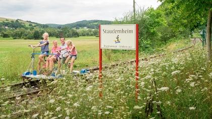 Draisinenbahnfahrt in Staudernheim - Spaß für die ganze Familie