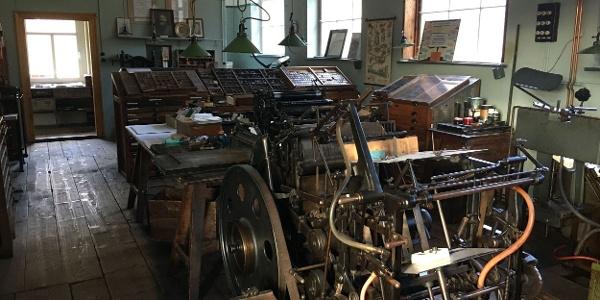 Buchdruckerei Innenansicht