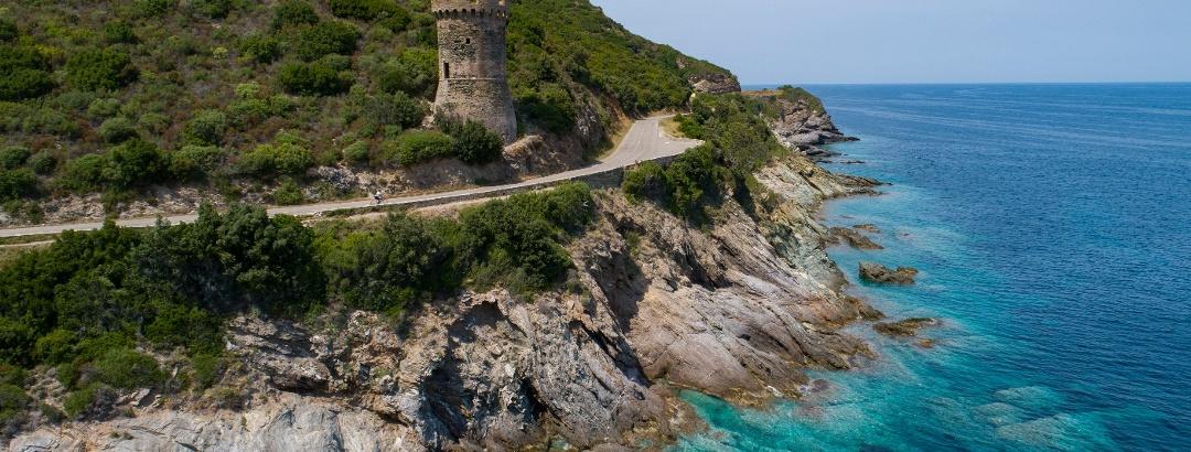 Küstenstraße auf Korsika