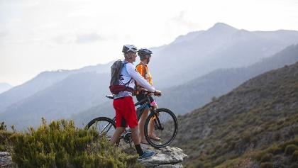 Radfahrer auf Korsika