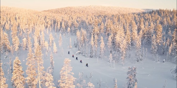 Winter Biking in Ylläs 2020