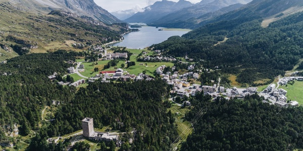 Maloja, starting point of the Inn cycle route