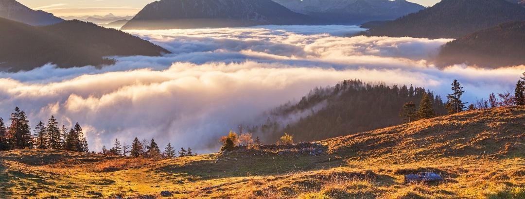 Blick ins Karwendel von Hochalm