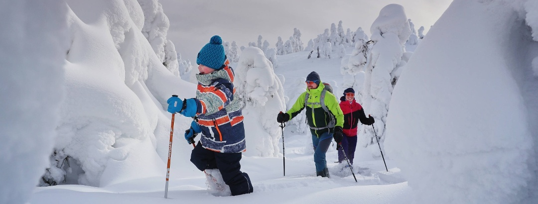 Snowhoeing in Finnish Lapland