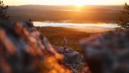 Die Mitternachtssonne in Lappland bewundern