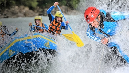 Die Fun-Kombi: Rafting und Canyoning