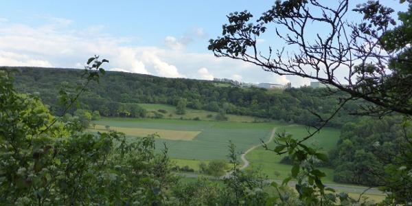 Blick von den Mindener Layen auf die luxemburgischen Höhen an der Sauer