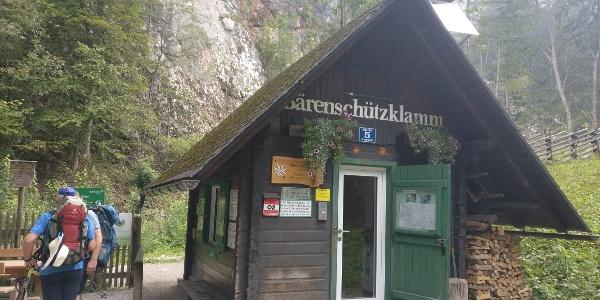 Der Eingang zur Bärenschützklamm