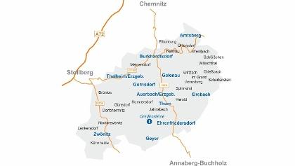 Karte der Greifensteinregion