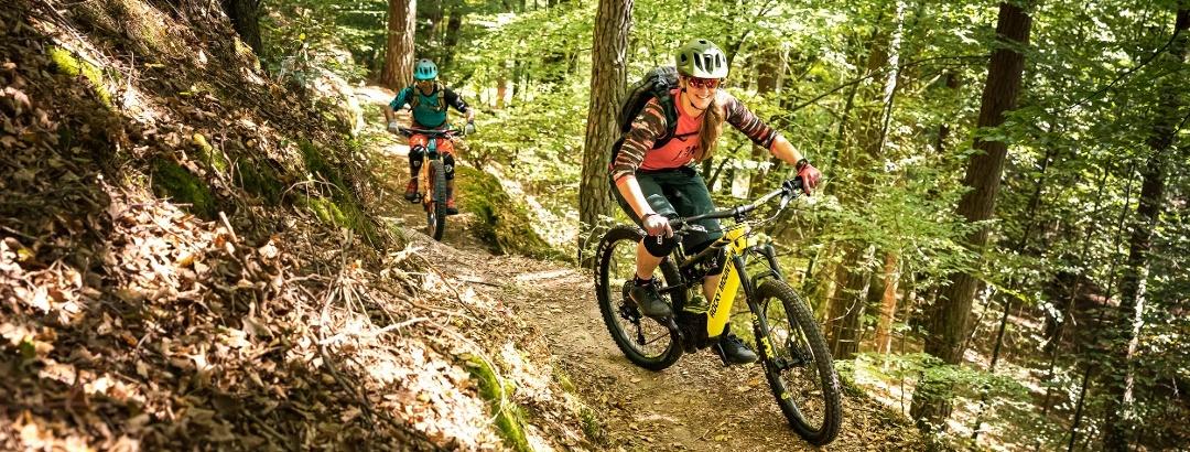 Biker auf Singletrail Tour 8