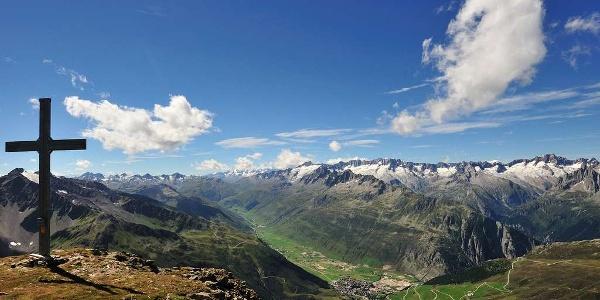 Vue sur Andermatt depuis Rossbodenstock