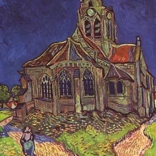 L'Eglise d'Auvers par Vincent Van Gogh