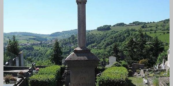 Vue depuis le monument aux morts de Riverie