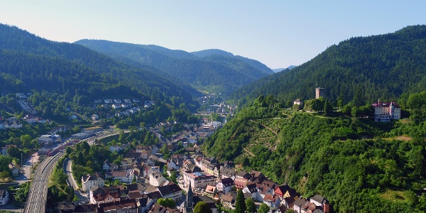 Blick auf den Schlossberg und Hornberg