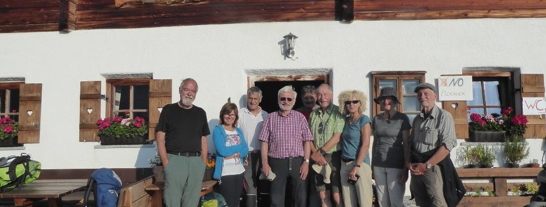 Gli casari e un gruppo di alpinisti di Kassel e Monaco