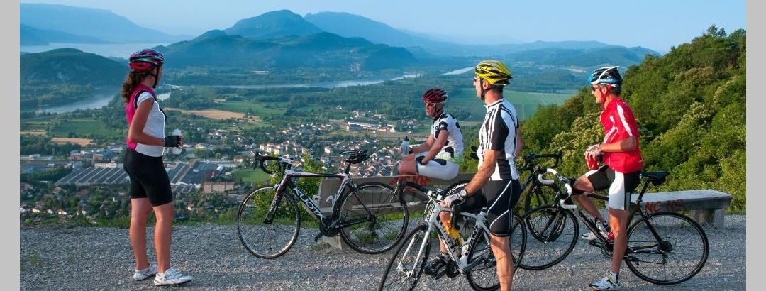 Circuit vélo dans l'Ain