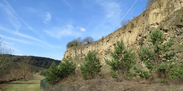 Blick auf die Steilwand der Ahl