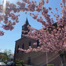 Start an der Kirche in Steinwenden