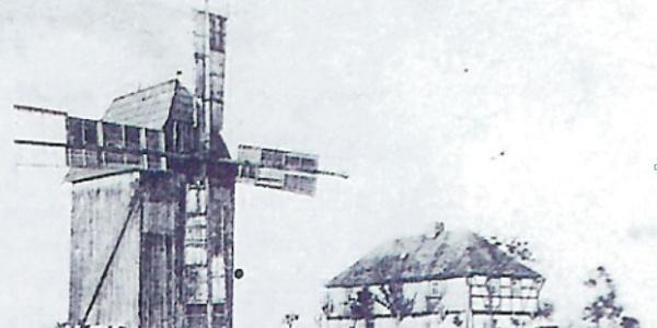 historische Ansicht Windmühle Oberpirk