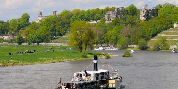 Ansicht über die Elbe