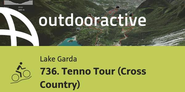 mountain biking trail at Lake Garda: 736. Tenno Tour (Cross Country)