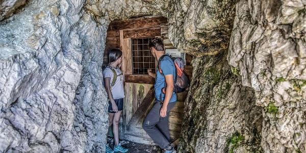 Rock tunnel Lagazuoi